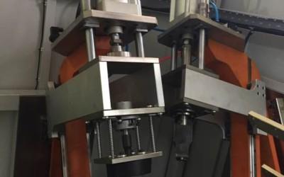 汽车大灯清洗孔气缸增压式冲孔机
