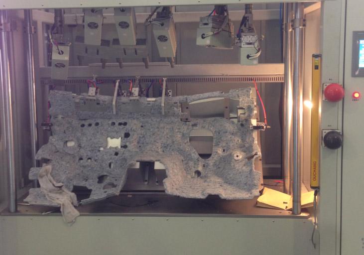 汽车中控台隔音棉毡多头超声波焊接机